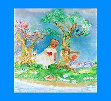 My Valentine Whimsical Designer Art Blue by innocentorigina