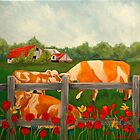 Cows and Barns by Barbarak