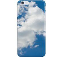 lone cloud in the pure blue sky iPhone Case/Skin