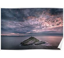 Sunrise at Mumbles lighthouse Poster