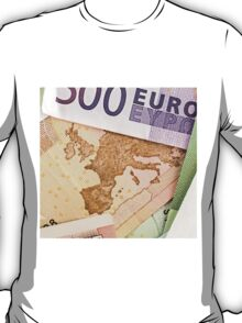 Map of Europe on 50 Euro banknote  T-Shirt