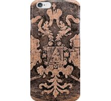 Threadbare coat of arms of the Russian empire iPhone Case/Skin