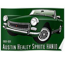 Austin Healey Sprite Mark IV British Racing Green Poster