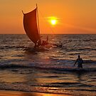 Sunset Negombo Beach by Adri  Padmos
