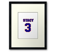 National football player Stacy Gore jersey 3 Framed Print