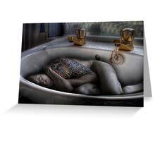 The sink bath Greeting Card