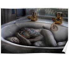 The sink bath Poster