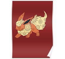 Floral Flareon Poster