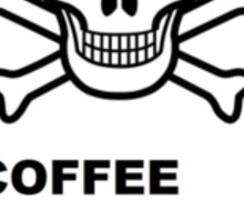Skull & Crossbones ~ Coffee Sticker