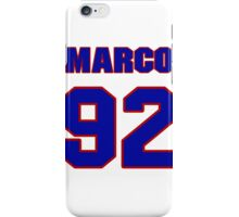 National football player Marco Coleman jersey 92 iPhone Case/Skin