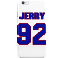 National football player Jerry DeLoach jersey 92 iPhone Case/Skin