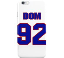 National football player Dom Moselle jersey 92 iPhone Case/Skin