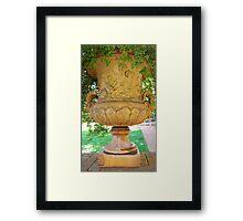mid-1800 vase/planter Framed Print