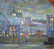 When Night falls / On The Beautiful City Streets           ( My Paintings )  by Rick  Todaro