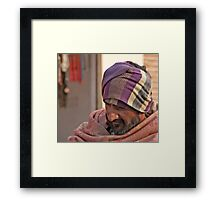 Staying Warm Framed Print