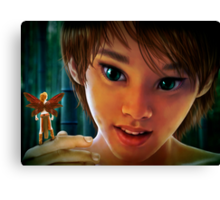 Peter and Tinker Bell Canvas Print