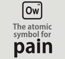 Atomic Symbol for Pain by rudeboyskunk