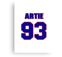 National football player Artie Smith jersey 93 Canvas Print