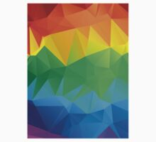 Rainbow Colors Polygonal Background 2 Kids Clothes