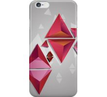 Red 3d Triangles 2 iPhone Case/Skin