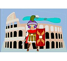 Roman Toon Boy 9 - no gladiator rebellion tonight - all products Photographic Print