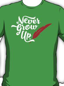 Peter Pan - Never Grow Up. T-Shirt