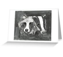 Raccoon Dog & Badger Greeting Card