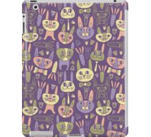 Funny Bunnies Violet iPad Case/Skin