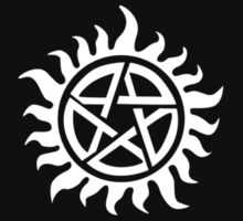 Supernatural - Demon Possession Protection (Badge Version) [WHITE] by Styl0