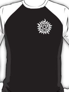 Supernatural - Demon Possession Protection (Badge Version) [WHITE] T-Shirt