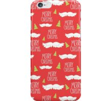 Merry Christmas Mustache Pattern iPhone Case/Skin