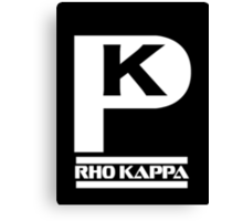 Rho Kappa Shirt Canvas Print