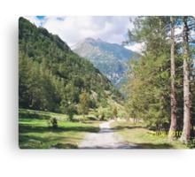 Una passeggiata sul Monte Rosa Macugnaga ItalIA -2000 VISUALIZ. GENNAIO 2015 - VETRINA RB EXPLORE 9 OTTOBRE 2012 Canvas Print