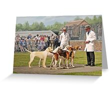 Quorn Hunt Puppy Show 2008 Greeting Card