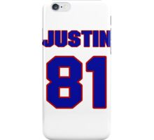 National football player Justin Armour jersey 81 iPhone Case/Skin
