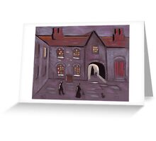 Old courtyard Greeting Card