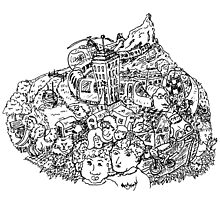 Life on the Mountain Doodle by Mike HobsoN