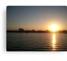 St Augustine sunset Canvas Print