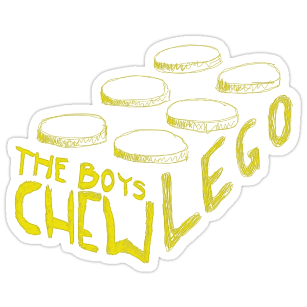 The Boys Chew Lego (yellow) by indiekid