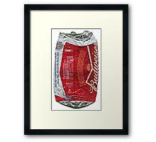 Budweiser - crushed tin Framed Print