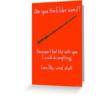The Elder Wand Greeting Card