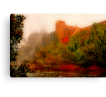 """Morning Mist at the Mill"" Canvas Print"