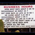 Business Hours by Judy Woodman