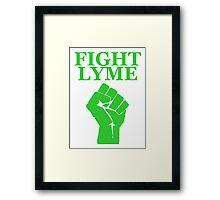Fight Lyme Framed Print