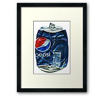 Pepsi Cola - Crushed Tin Framed Print