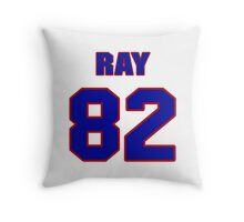 National football player Ray Bray jersey 82 Throw Pillow