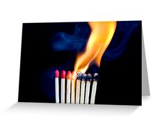 Playing With Matches Greeting Card