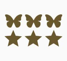 Golden Butterflies stars  Kids Clothes
