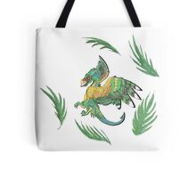 """""""Ancient Wings"""" Quetzalcoatl Feathered Dragon Tote Bag"""