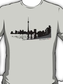 Live Inspire Heart City Scape T-Shirt
